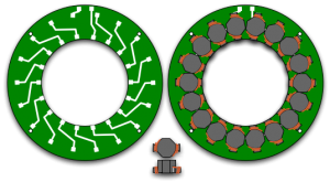 SMT coil layout